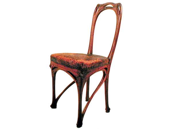 Rare Art Nouveau Hector Guimard Wood Carved Chair The Bohmerian