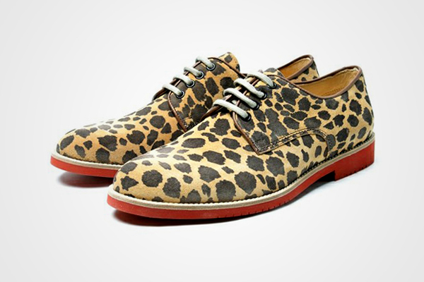 Leopard patterned shoes by Italian shoe manufacturer Boemos.