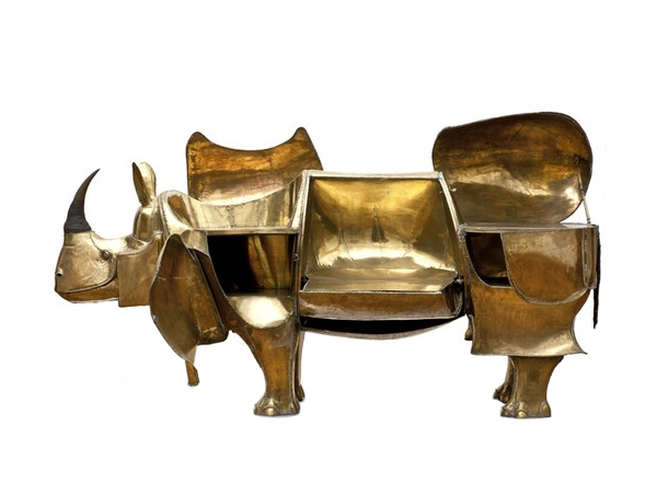 The Rhino Shaped Desk by French husband anf wife, artist and designer Claude and Francois-Xavier Lalanne.