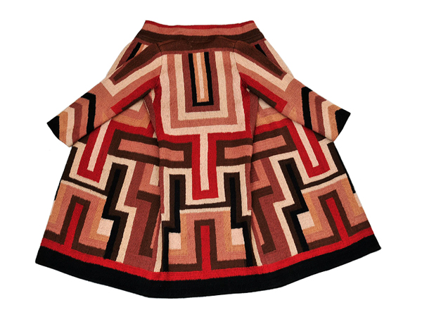 A coat designed and made by Sonia Delaunay for American actress Gloria Swanson.