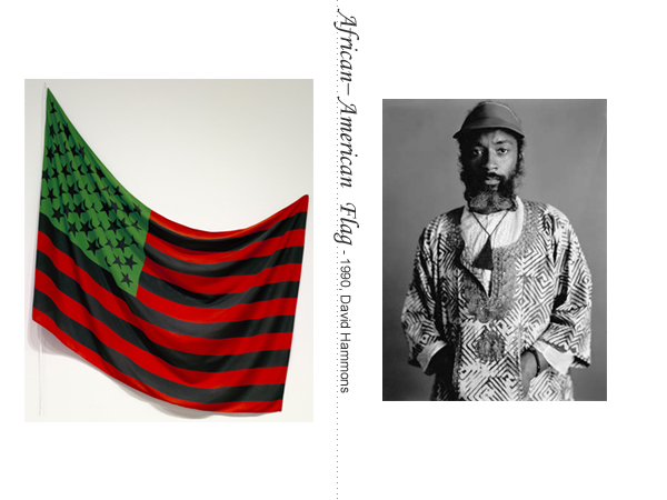 A art flag by American artist David Hammons.