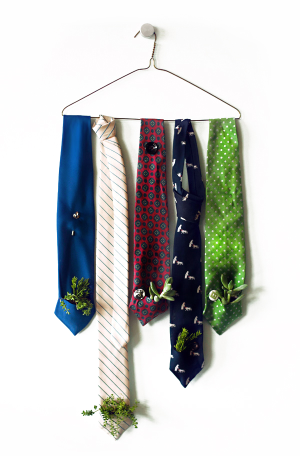 A father's day DIY gift made of recycled neckties.