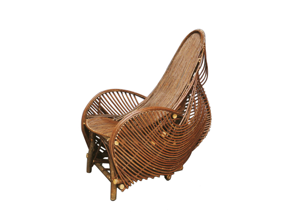 ... A Rustic Art Nouveau Style Willow Chair Design And Made By American Furniture  Designer Clifton Monteith