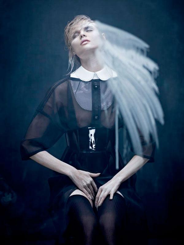 Polish fashion model Magdalena Frackowiack for Dansk Magazine.