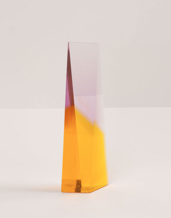 Acrylic sculptures by Norman Mercer.