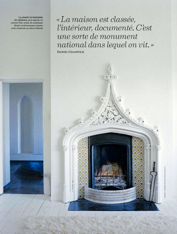 Fireplaces shape bohemian chic black white miniatures for Tudor style fireplace