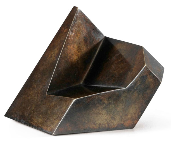 A mid-century modern cast bronze sculpture Jean Arp.
