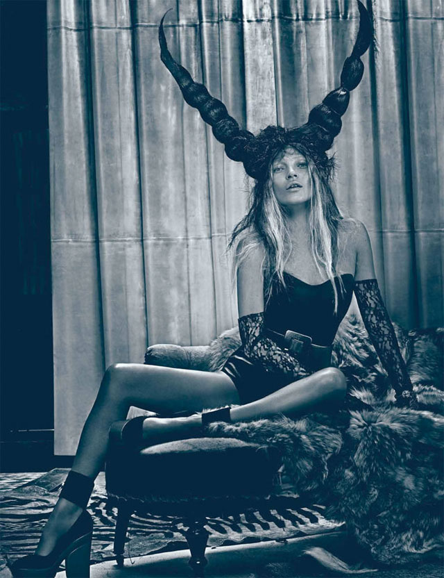 Fashion model Kate Moss photographed by new york based american photographer Steven Klein.