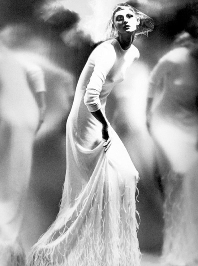 A fashion editorial photo for German Vouge by Lillian Bassman