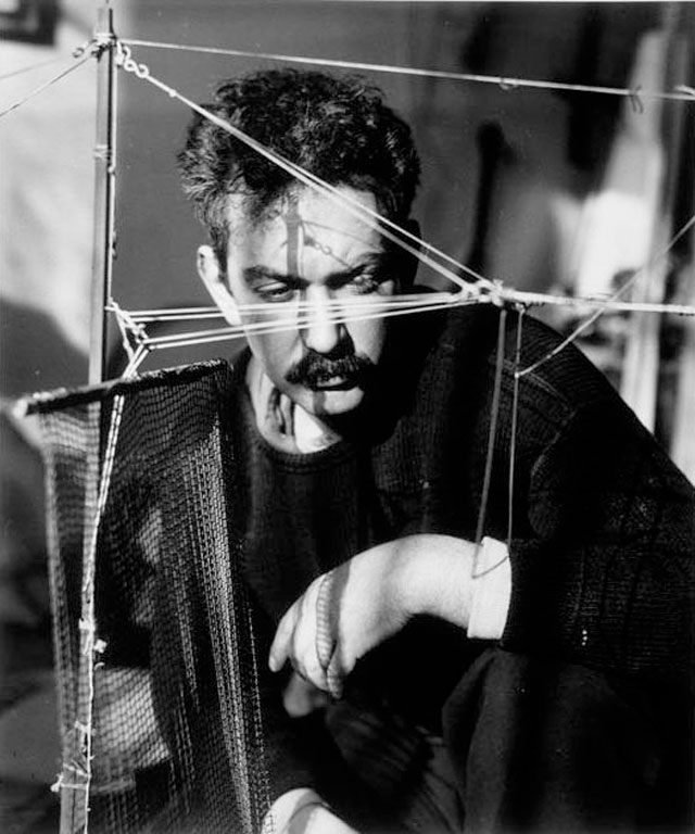 American sculptor Alexander Calder photographed by André Kertész