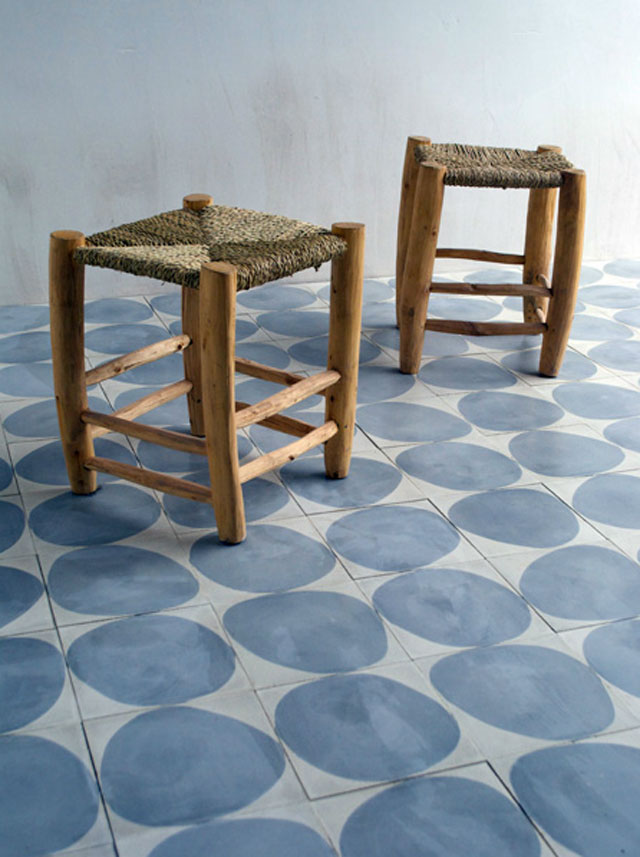 Modern morocco inspired concrete tiles designed by Claesson Koivisto Rune for Marrakech Design