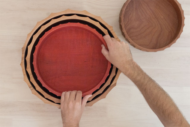 Hand carved wooden plates mugs and bowls designed and crafted by Mapuche artisans for The Andes House.