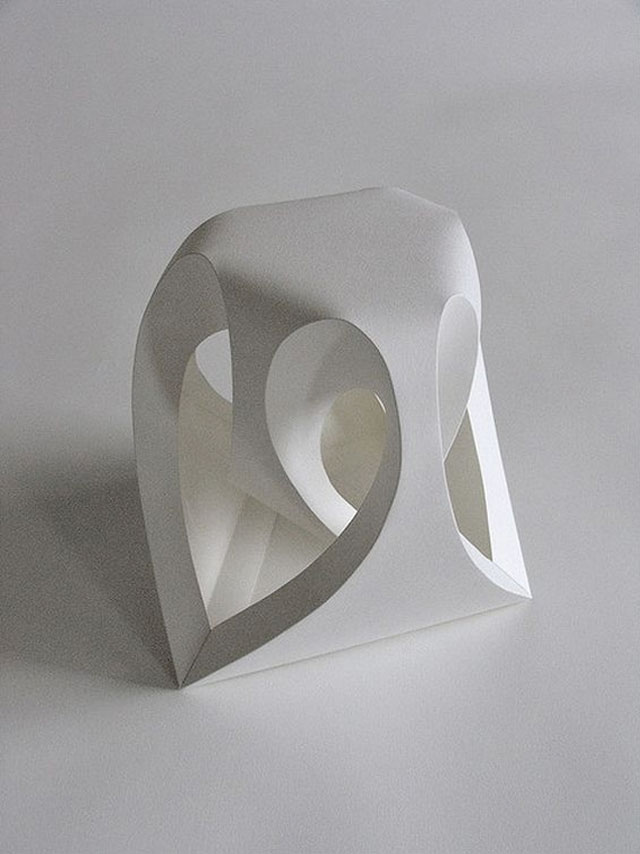 Three dimensional paper art by english sculptor Richard Sweeney