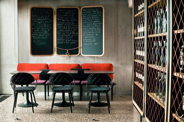 A chic bohemian bar and restaurant designed by Nika Zupanc.