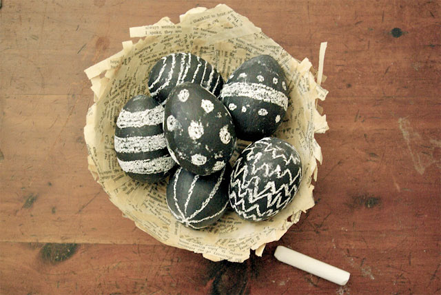 DIY Easter Eggs by Oleander and Palm blog.