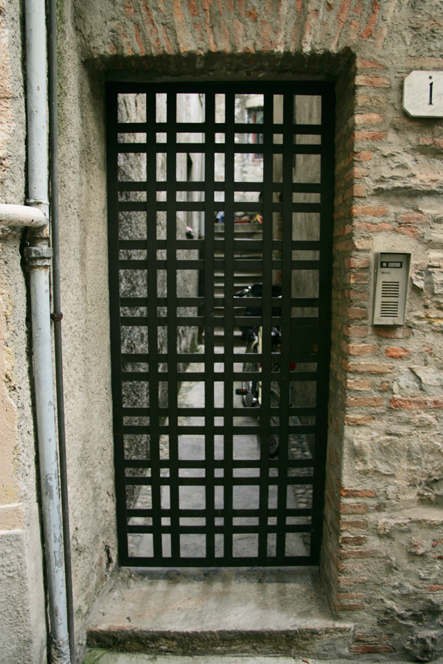 Iron door in Como Italy.