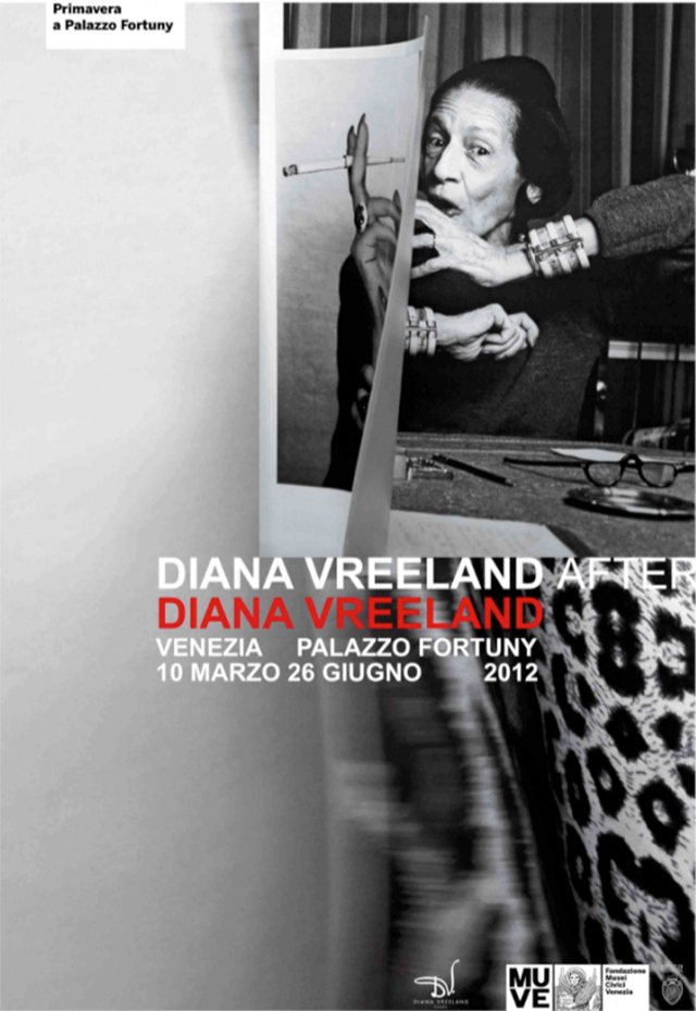Fashion muse Diana Vreeland exhibit on display at the Fortuny museum in Venice Italy.