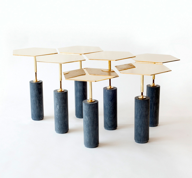 ... Marble And Brass Hawley Side Table Designed By Brooklyn New York Based  Furniture Designers Egg Collective