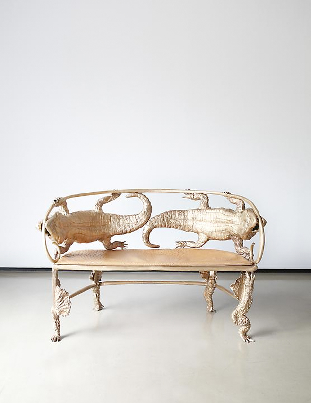 Rare art furniture by French artists Claude and Francois Xavier Lalanne at the Paul Kasmin art gallery in NYC.