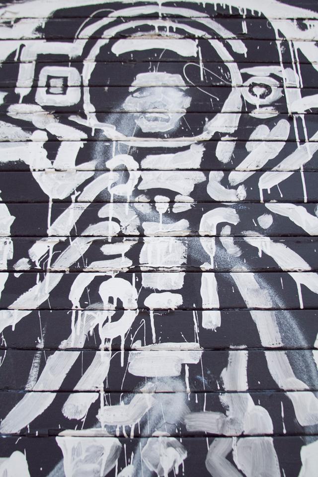 Street art graffiti in Brooklyn, NY.