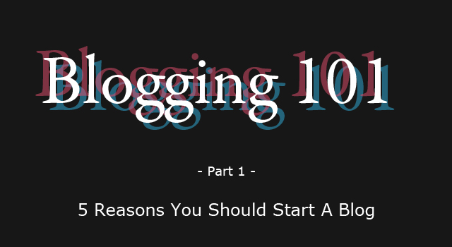 Starting a blog tips with Blogging 101 via theBohmerian.com