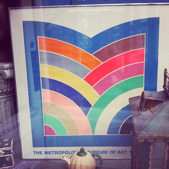 A rare 1970's screen print by American artist Frank Stella for the Metropolitian Museum of Art 100th Year Anniversary