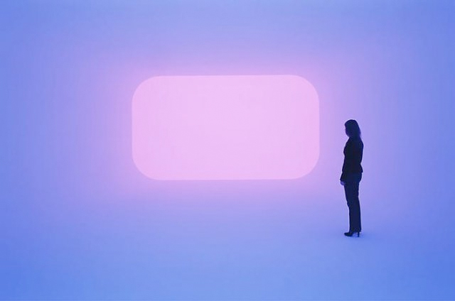 Dhatu art lighting installation by American artist James Turrell.